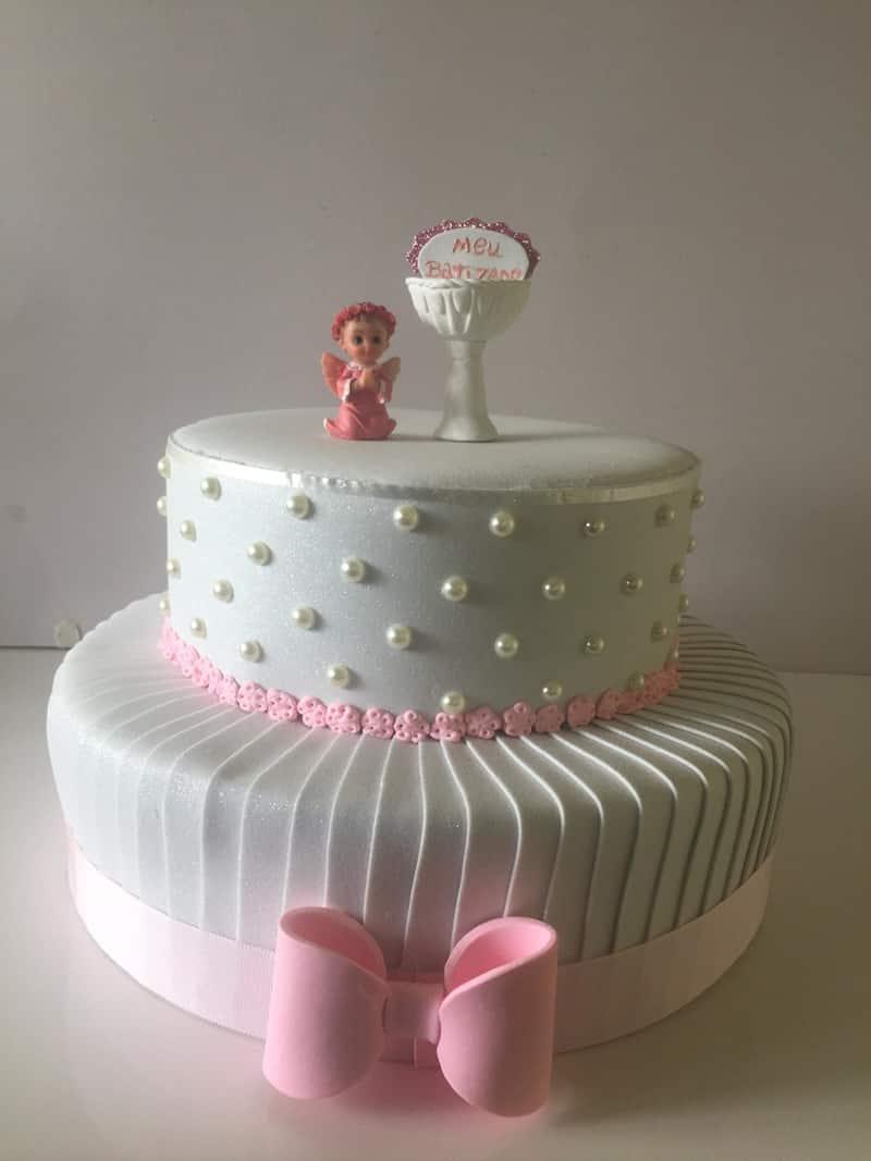 bolo para batizado com decoração
