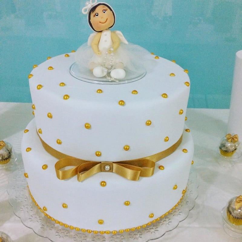 bolo para batizado anjo