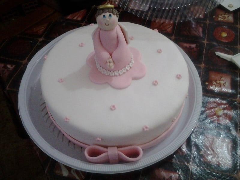 bolo para batizado anja