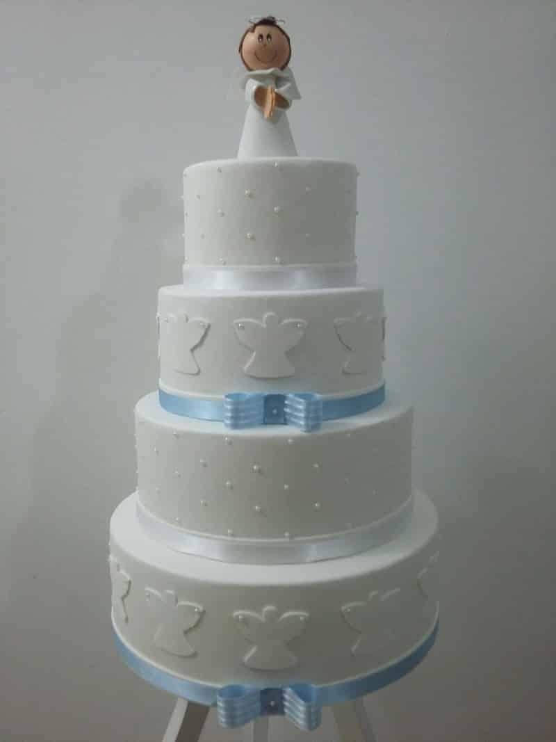 bolo para batizado grande