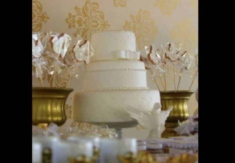 bolo para batizado fake