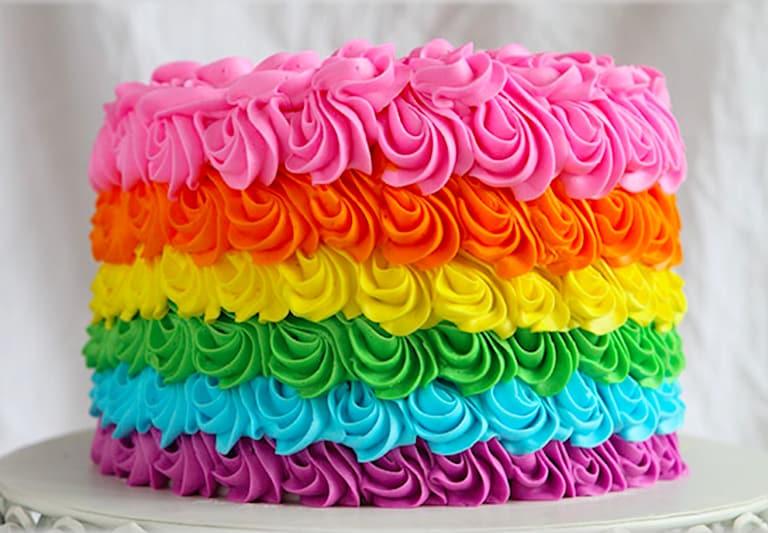 Smash the cake arco iris