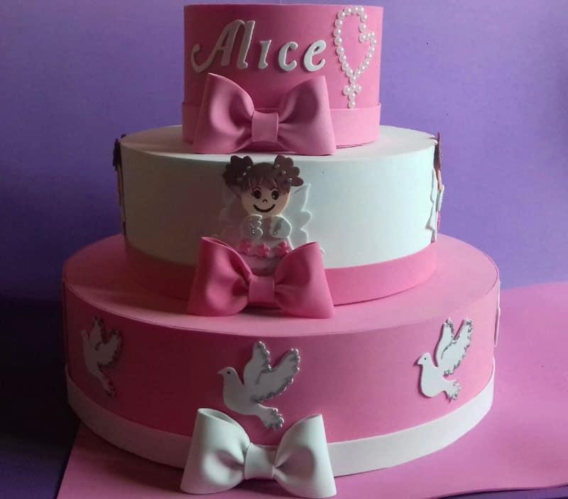 bolo para batizado para menina