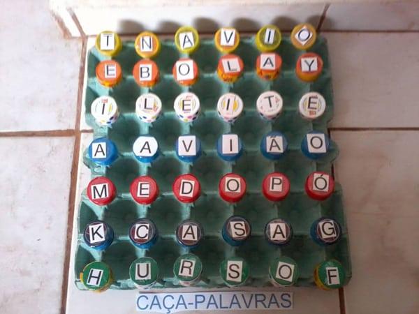 brinquedo pedagogico caixa ovos