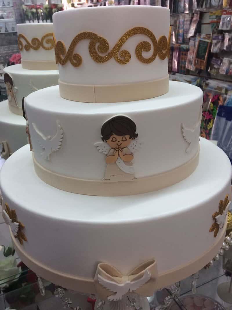 bolo para batizado com eva