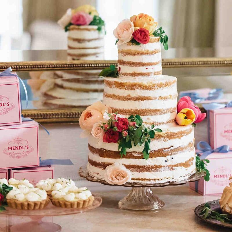bolo de flores pelado
