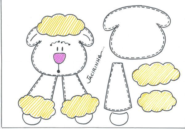 lembrança de pascoa de eva ovelha