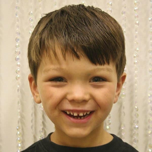 boy haircuts for straight hair espa 231 o infantil franja 7 espa 231 o infantil 4895 | franja lisa 7
