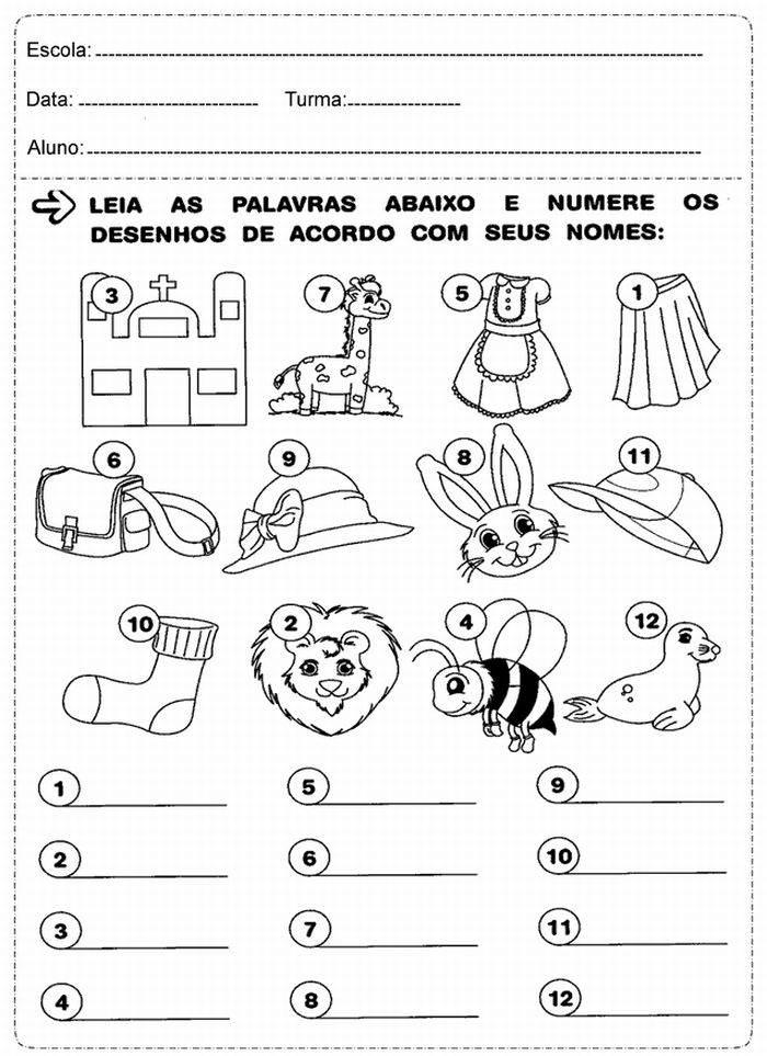 Atividades De Alfabetizacao Portugues Matematica Exercicios