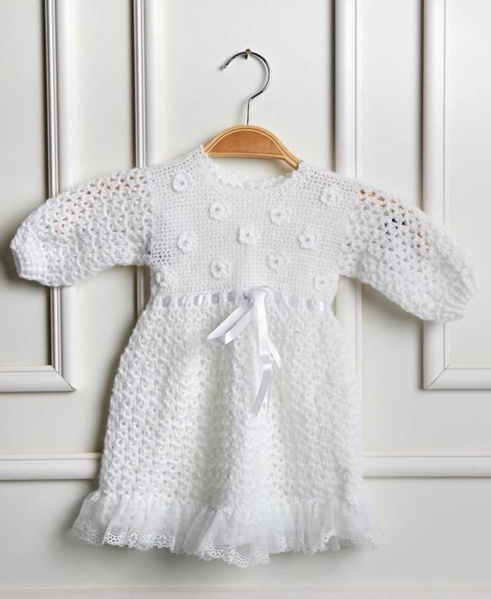 Vestido De Crochê Infantil 2018 Gráficos Receitas Fotos
