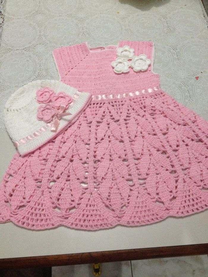 b5e21ae3a Vestido de Crochê Infantil 2018: Gráficos, Receitas, Fotos, Modelos