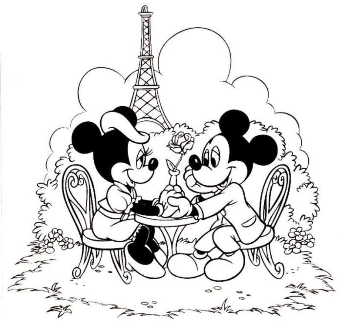 Imagens Do Mickey Mouse E Minnie Desenhos Para Colorir E Imprimir