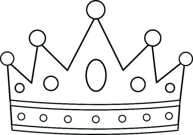 molde de coroa para imprimir príncipe princesa rei coroinha