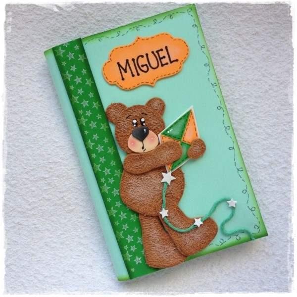 capa de caderno ursinho