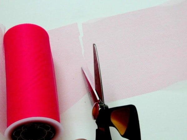 como fazer saia de tule com elastico