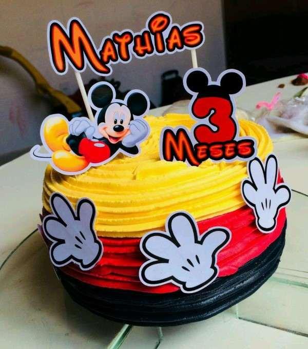 como fazer topo de bolo do mickey