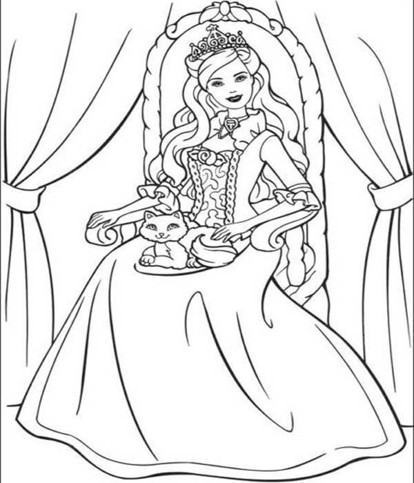 Desenhos para pintar Barbie princesa