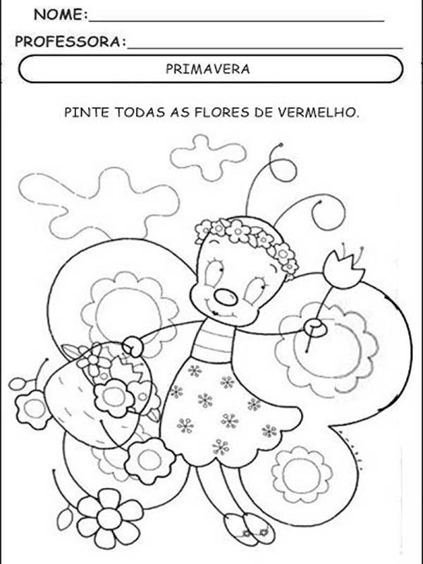 Desenho Da Primavera Para Colorir Imagens Para Educacao Infantil