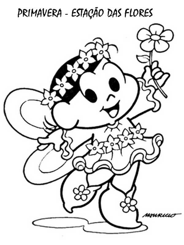 Desenho da primavera para colorir Magali