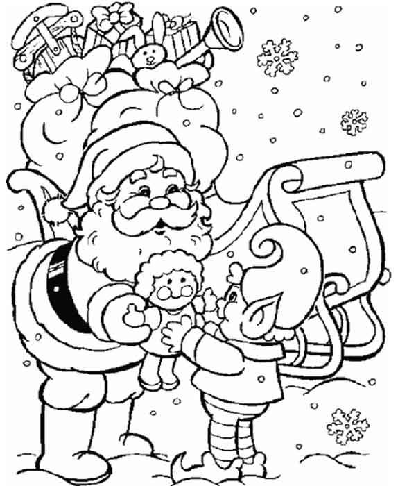 Desenhos para pintar Papai Noel