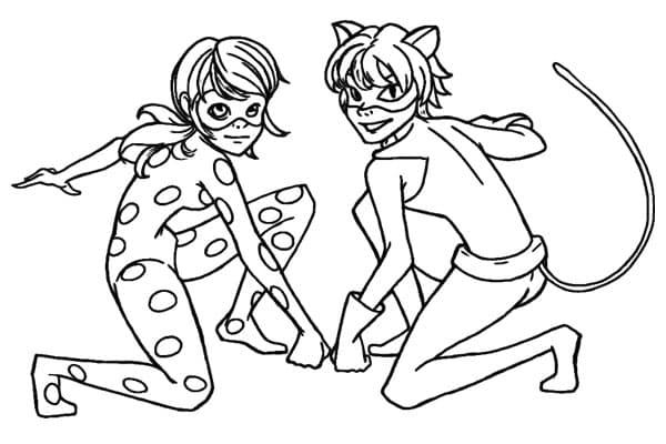 Desenhos para pintar Ladybug