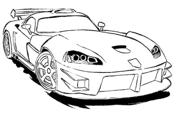 Desenhos para pintar carro