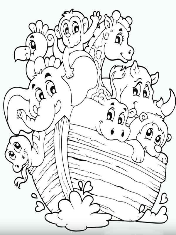 Desenhos para pintar Arca de Noé