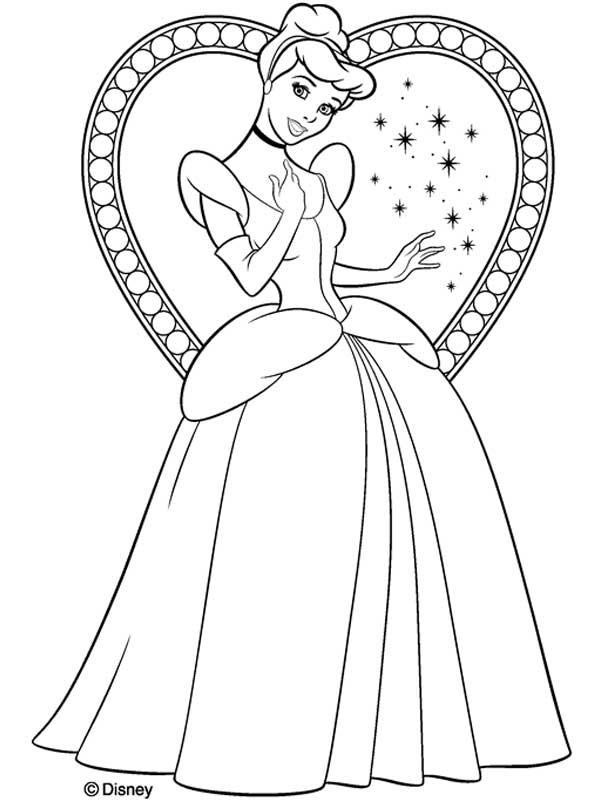 Desenhos para pintar Cinderela
