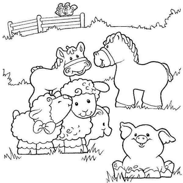 Desenhos para pintar Fazendinha