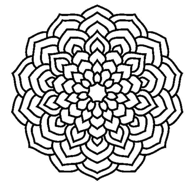 Desenhos para pintar mandala flor