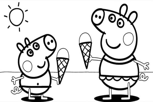 Desenhos pintar Peppa Pig