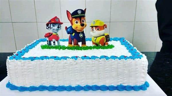 bolo de corte patrulha canina