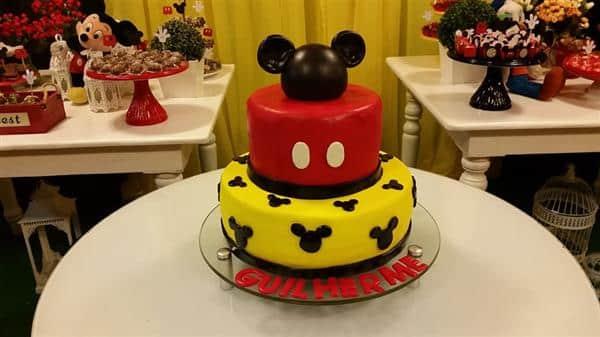 decoração de bolo do mickey