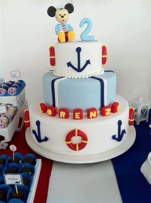 bolo do mickey marinheiro