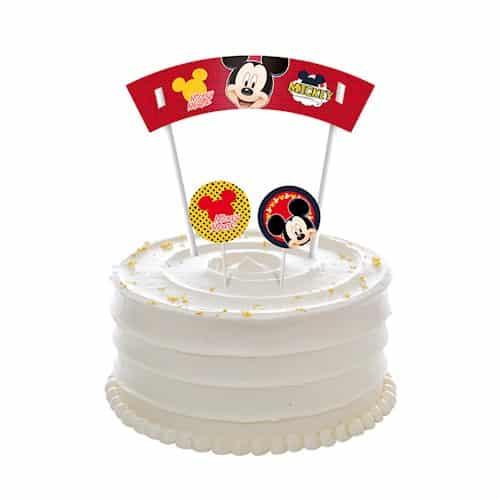 bolo do mickey branco com topo