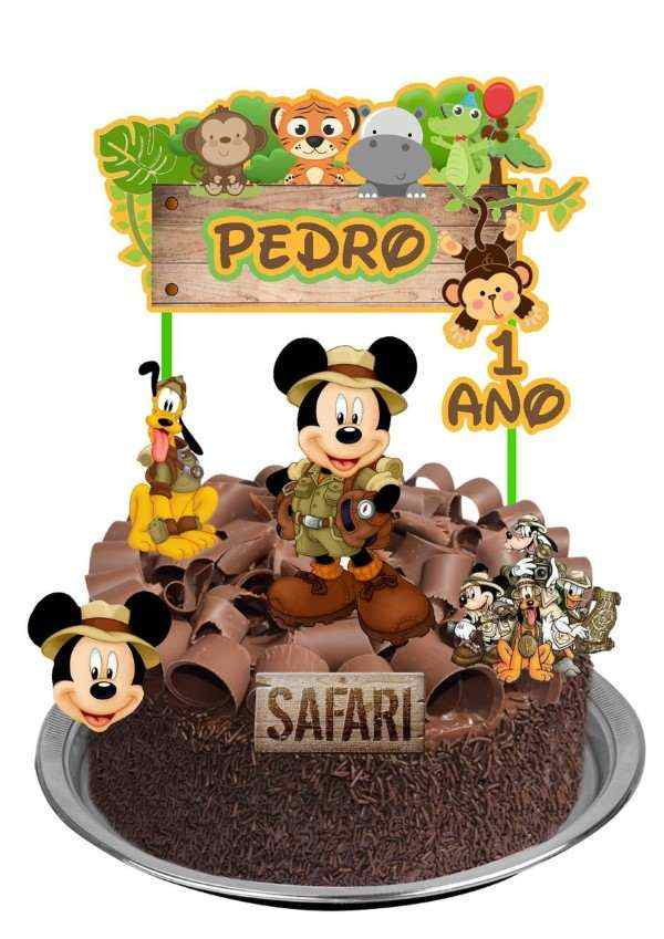 bolo safari do mickey