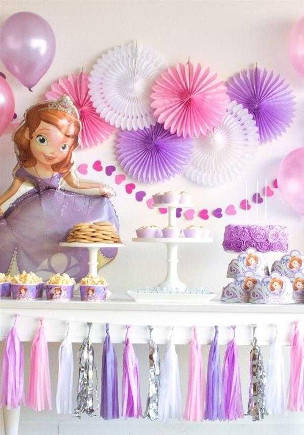 decoração da princesa sofia 1 ano