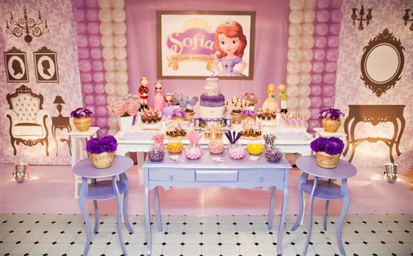decoração princesa sofia centro de mesa
