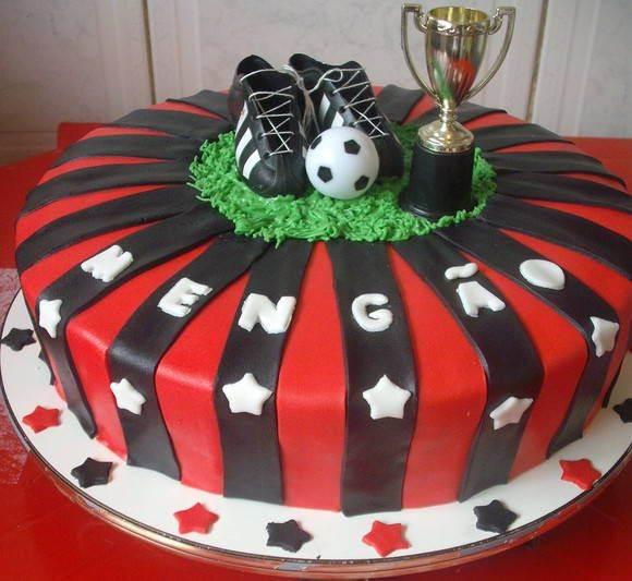modelos de bolo do flamengo
