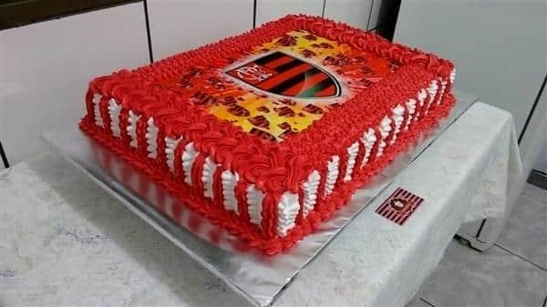 bolo do flamengo de papel de arroz