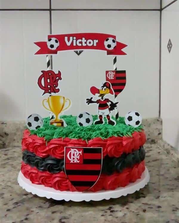 decoração de bolo do flamengo