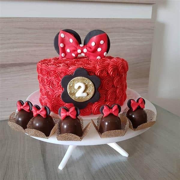 ideias para bolo da minnie