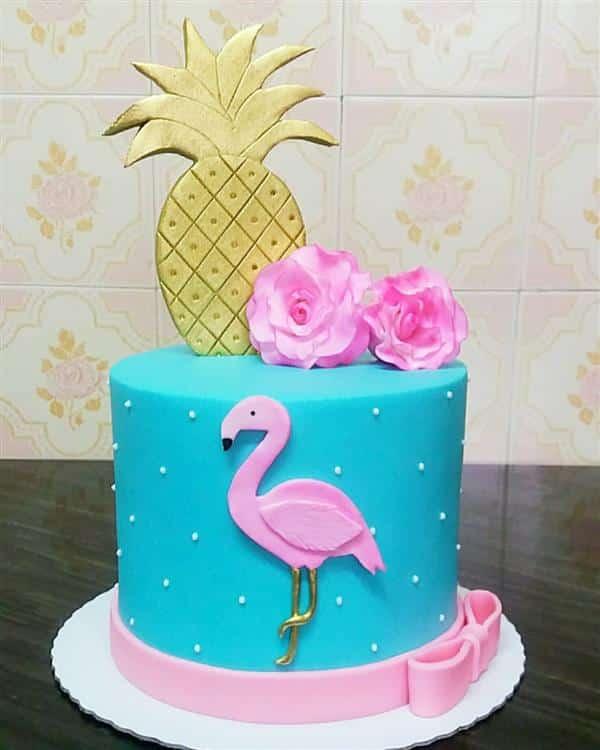 festa flamingo bolos