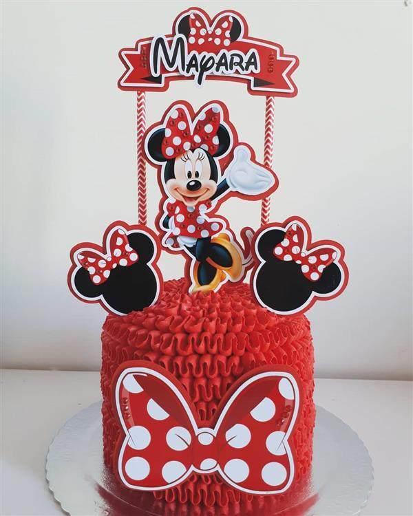 bolo da minnie vermelha