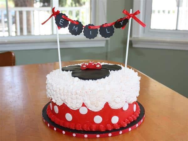 decoração de bolo da minnie