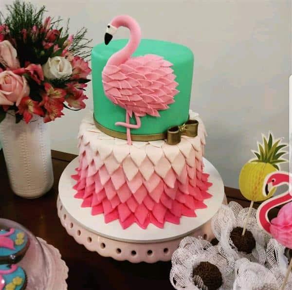 ideias de bolo flamingo