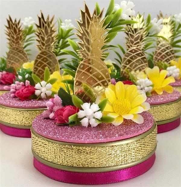 latinha decorada festa tropical