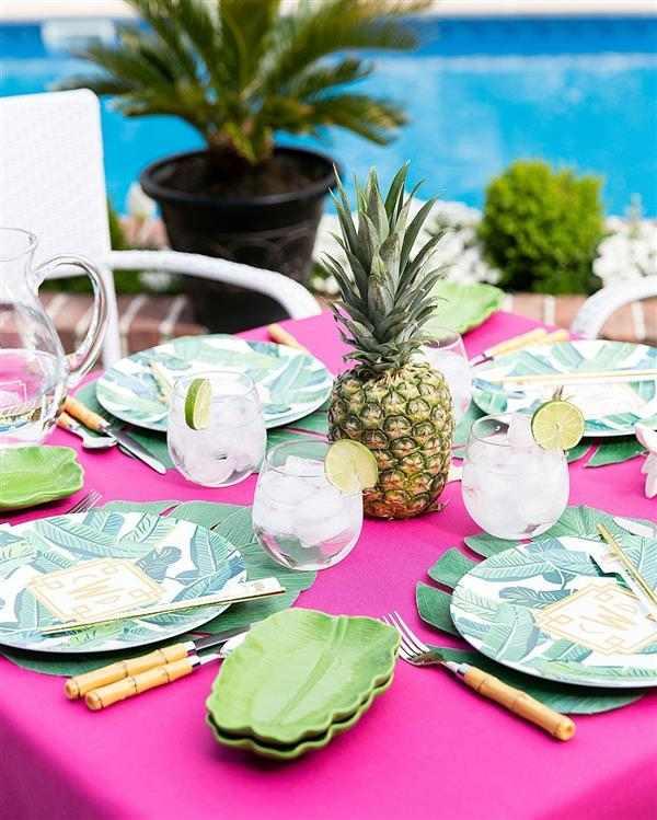 centro de mesa de abacaxi