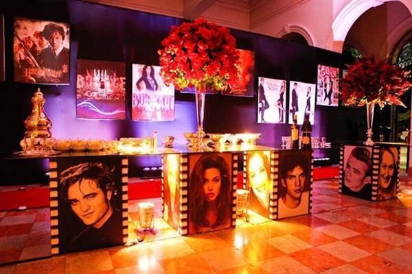 decoração festa cinema