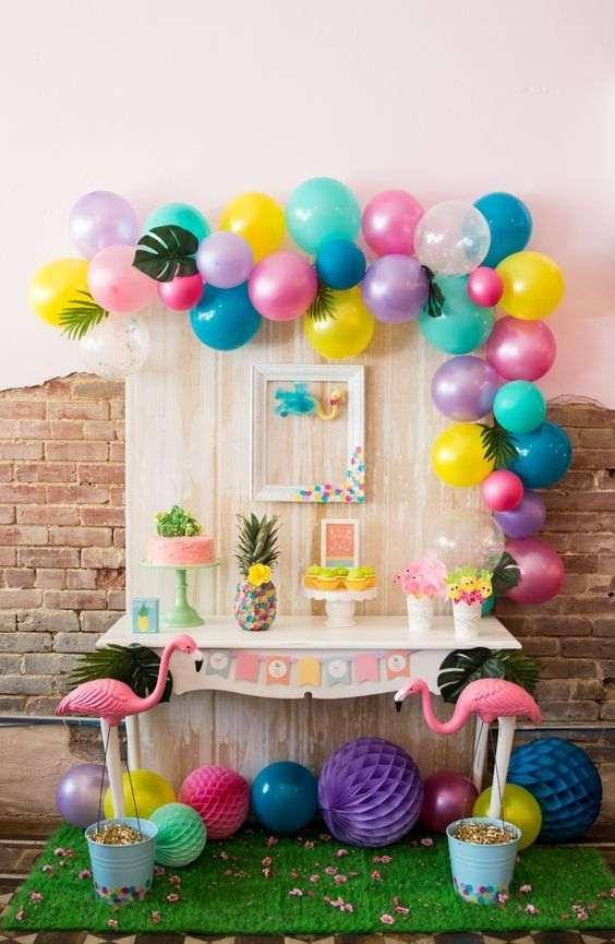 decoração de festa infantil simples com balões